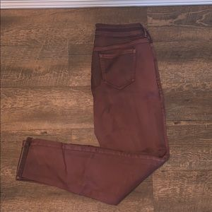 Maurice's maroon Jeggings